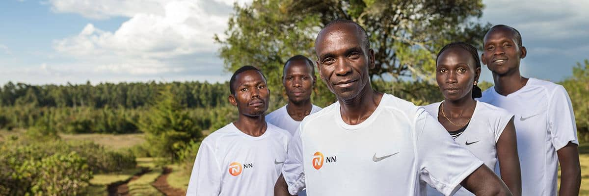 Eliud Kipchoge and the NN Running team